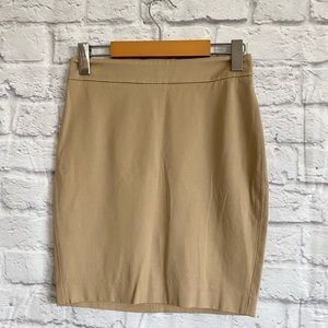 ARITZIA T BABATON Tan Stretch Mini Skirt
